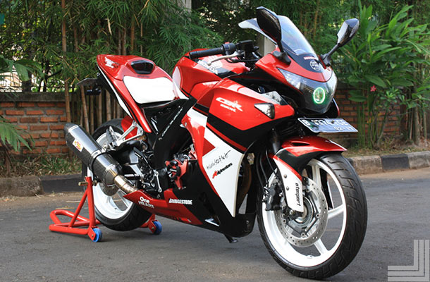 modifikasi cbr 150 local merah