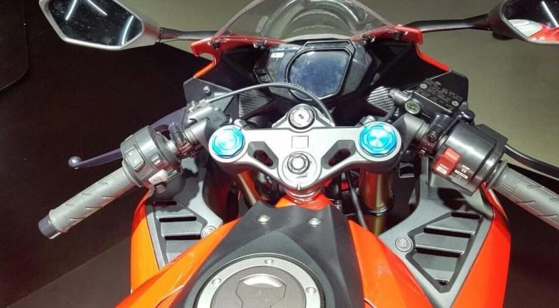 tampilan depan All new Honda CBR 250rr Warna Merah Putih